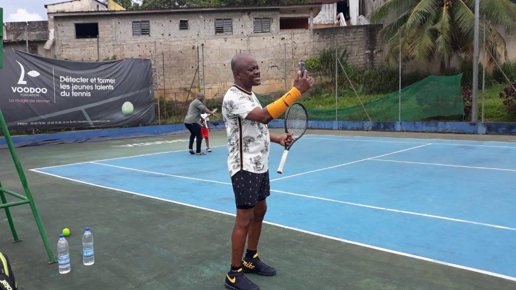 Fabrice Sawegnon en plein FaceTime, le 23 juin 2019 à Abidjan