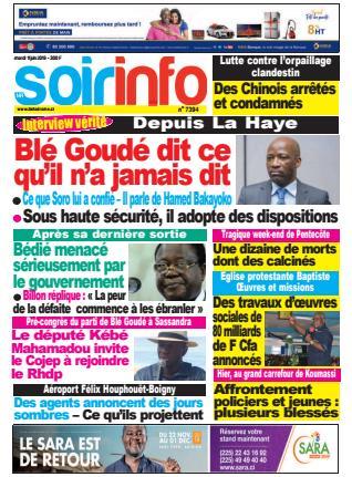 Revue de la presse ivoirienne du 11 juin 2019
