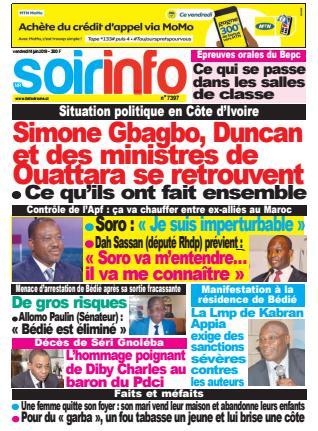 Revue presse ivoirienne 14 juin 2019