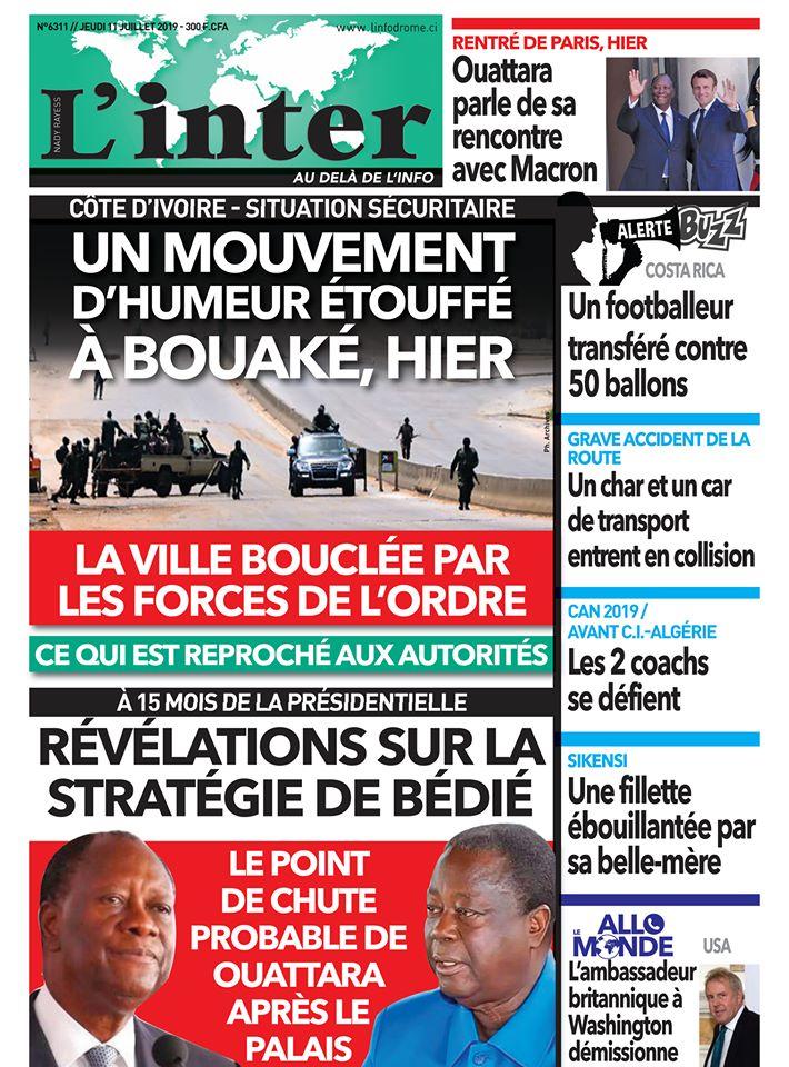 Revue de la presse ivoirienne du 11 juillet 2019