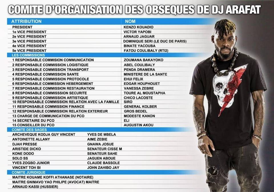 DJ Arafat: voici le comité chargé de l'organisation de ses obsèques