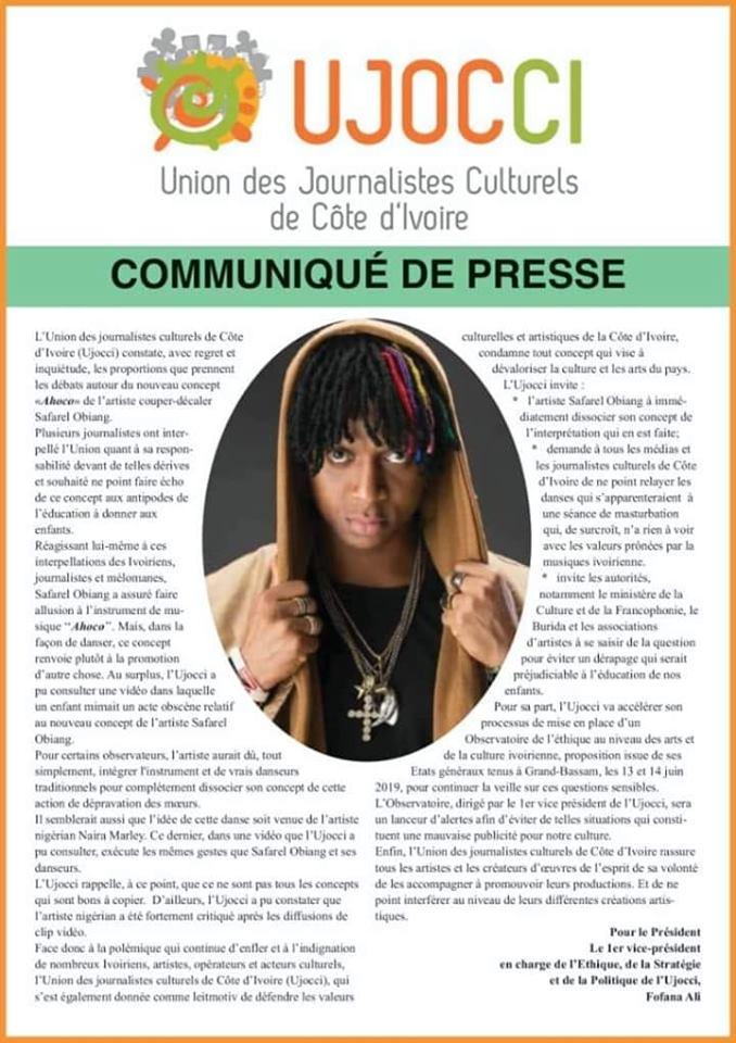 """Le nouveau concept de Safarel Obiang """"ahoco"""" censuré"""