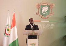 Alassane Ouattara le 6 janvier 2020